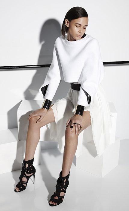 Binx Walton for Balmain at Resort 2015 Fashion Show.