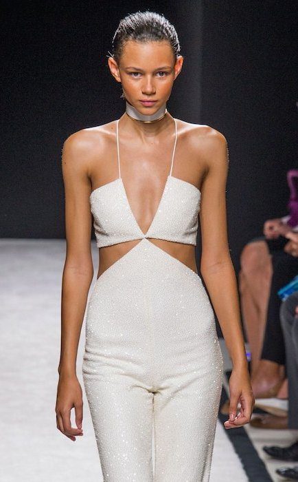 Binx Walton for Balmain during Spring / Summer 2015 Fashion Show.