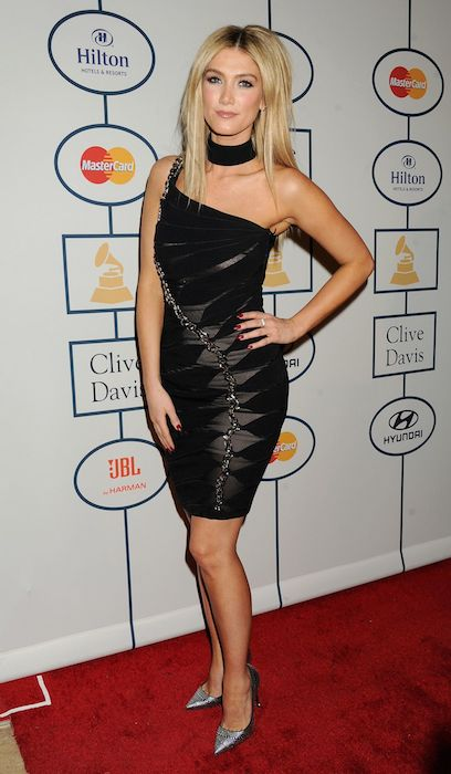 Delta Goodrem at the 56th Annual Grammy Awards Pre-Grammy Gala in January 2014.