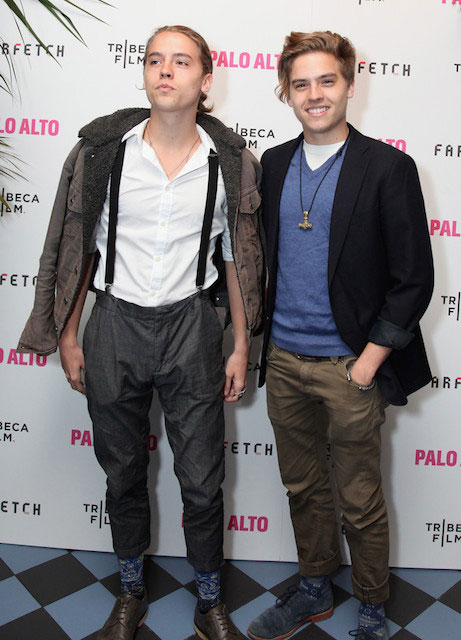 Dylan (Left) and Cole Sprouse (Right) attend The 2014 Tribeca Film Festival After Party Of Gia Coppola's Palo Alto, Hosted By Farfetch At Up&Down.