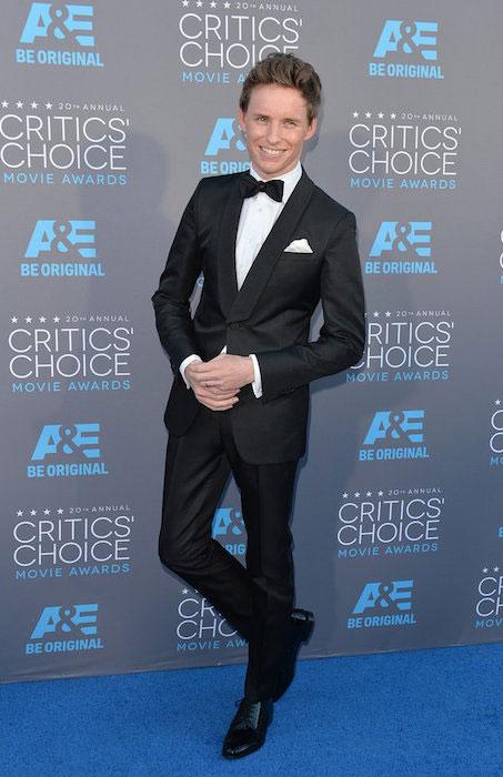 Eddie Redmayne at Critics Choice Awards 2015.