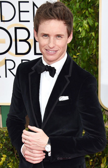 Eddie Redmayne at Golden Globe Awards 2015.