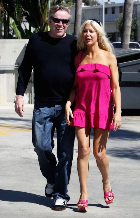 Gary Busey and Frenchy out and about in Los Angeles, America on August 26, 2010.