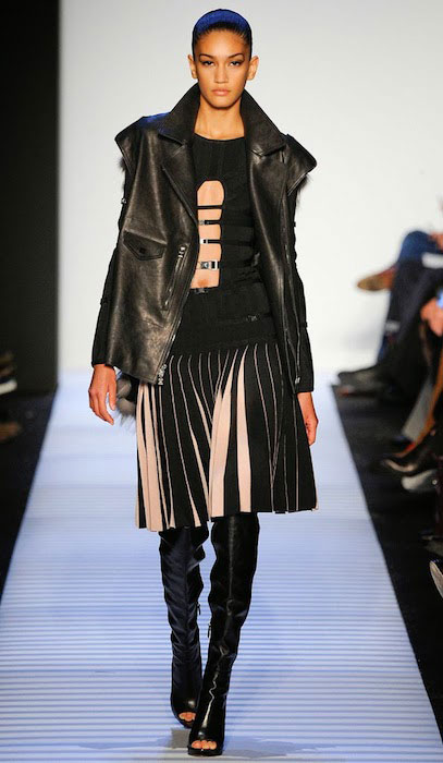 Hadassa Lima in Herve Leger by Max Azria Fall / Winter 2014 Fashion Show at New York.