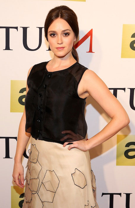 Heather Lind attends the premiere of AMC's new series TURN at The National Archives on March 24, 2014 in Washington DC.