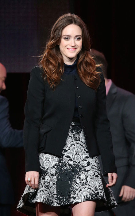 Heather Lind during the 'AMC - Turn' panel discussion at the AMC / Sundance portion of the 2014 Winter Television Critics Association tour at the Langham Hotel.