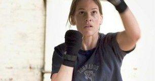 Hilary Swank boxing workout
