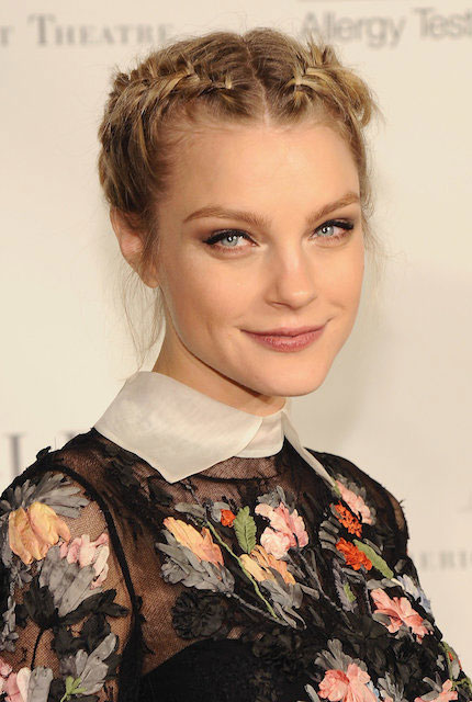 Jessica Stam braided hairstyle.
