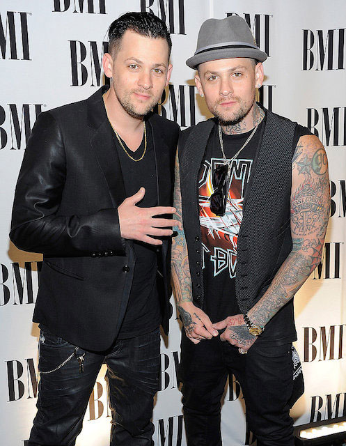 Joel Madden (Left) with Benji Madden at BMI Pop Music Awards 2011.