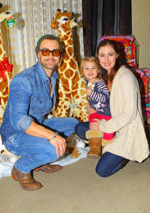 Joey Lawrence with Chandie Yawn-Nelson and daughter Liberty Lawrence.