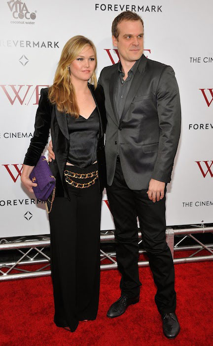 Julia Stiles and David Harbour attend The Weinstein Company with The Cinema Society & Forevermark premiere of 'W.E.' at the Ziegfeld Theater.
