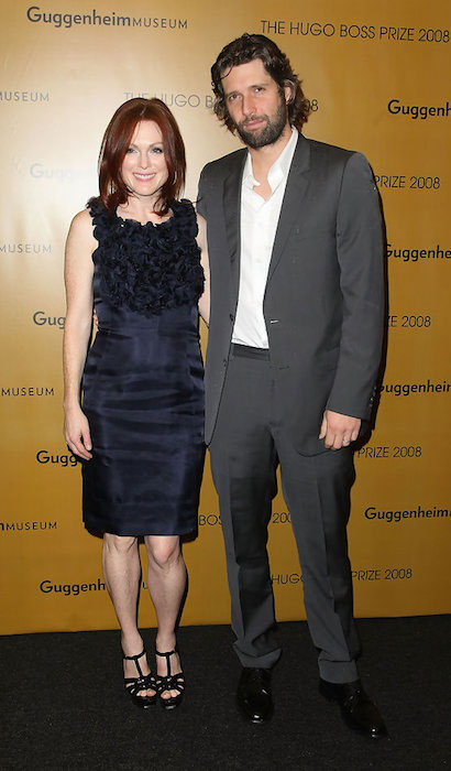 Julianne Moore and Bart Freundlich arrives at the Hugo Boss Prize 2008 at the Solomon R. Guggenheim Museum.