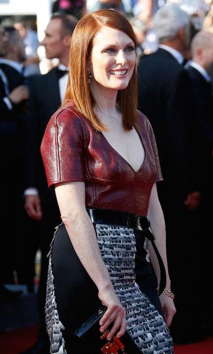 Julianne Moore at Mr. Turner Premiere at 2014 Cannes Film Festival.