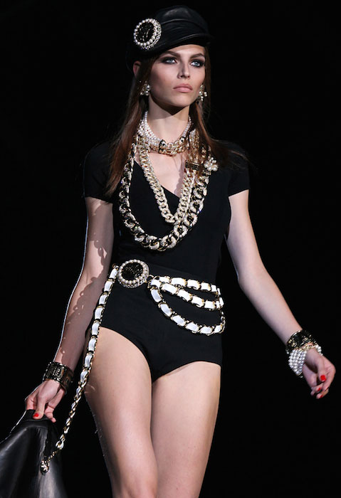 Karlina Caune by Marijo Cobretti for Dsquared2 Spring / Summer 2013 Fashion Show.