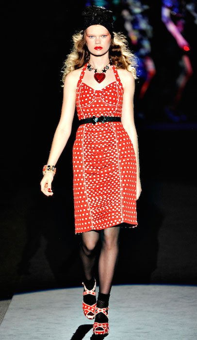 Kelly Mittendorf during Anna Sui Spring 2012 - Ready to Wear Fashion Show.