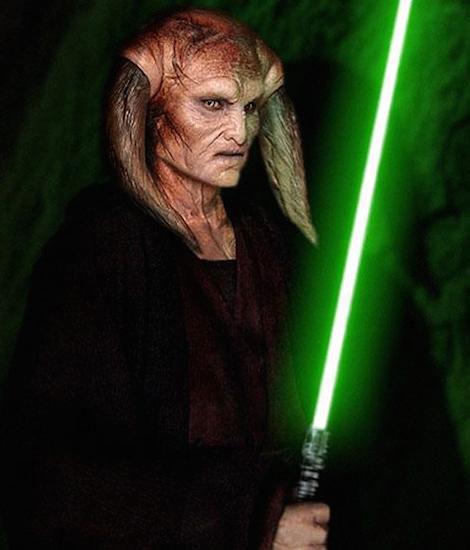 Khan Bonfils as Saesee Tiin in Star Wars.