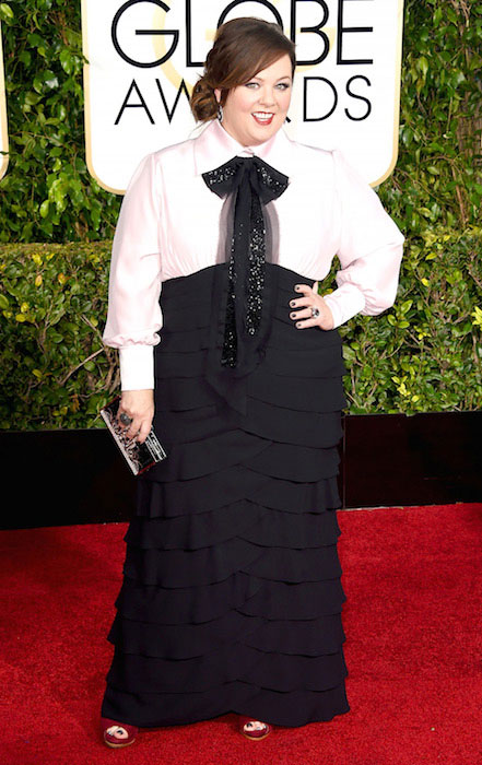 Melissa McCarthy at 2015 Golden Globe Awards.