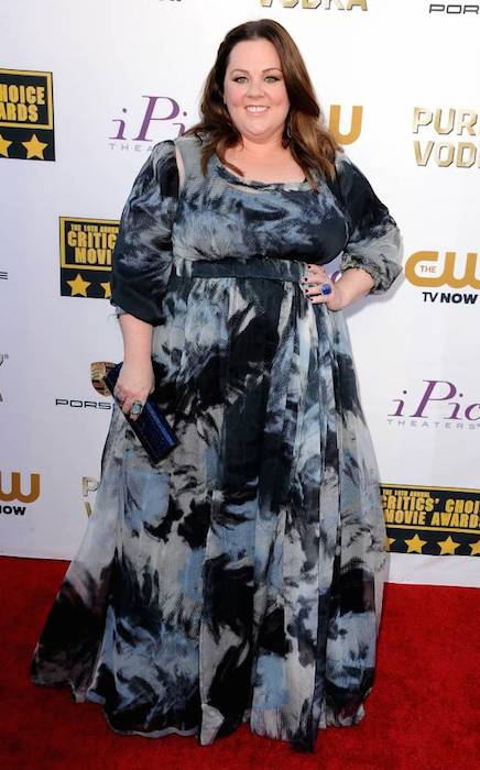 Melissa McCarthy attends the 2014 Critics' Choice Movie Awards at the Barker Hangar in Santa Monica, California.
