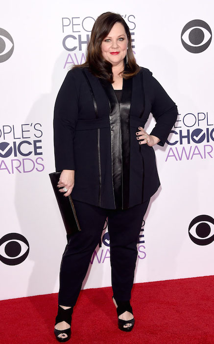 Melissa McCarthy attends the 2015 People's Choice Awards in Los Angeles, California.