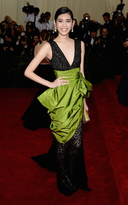 Ming Xi wearing Michael Kors at 2014 Met Gala.