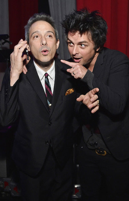 Musician Ad-Rock and Billie Joe Armstrong at The 6th Annual Little Kids Rock Benefit presented by Guitar Center at the Hammerstein Ballroom on October 23, 2014.
