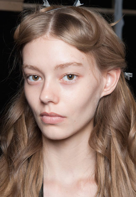 Ondria Hardin at Milano Fashion Week Spring 2015.