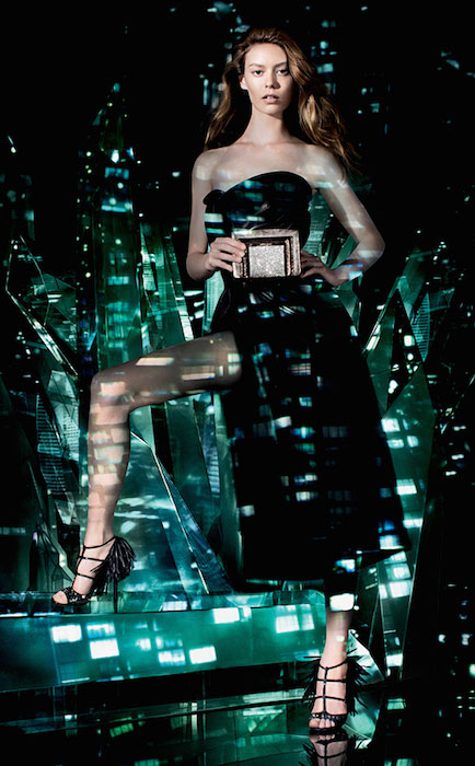 Ondria Hardin shot by Matt Collishaw for Jimmy Choo's Cruise 2015 campaign.