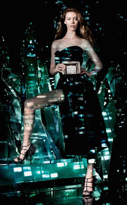 Ondria Hardin shot by Matt Collishaw for Jimmy Choo's Cruise 2015 campaign.