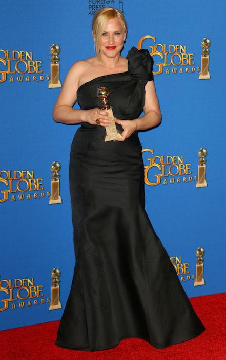 Patricia Arquette at Golden Globe Awards 2015.