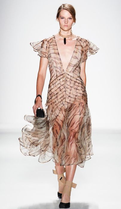 Sara Blomqvist at Zimmermann Spring / Summer 2014 New York Fashion Week.