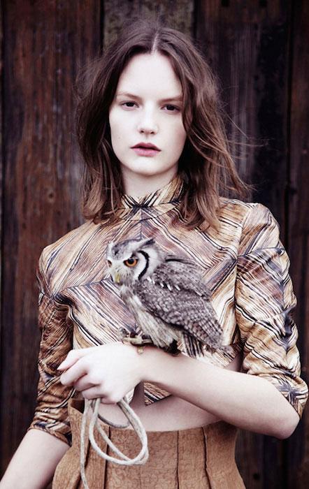 Sara Blomqvist posing for Twin Magazine.