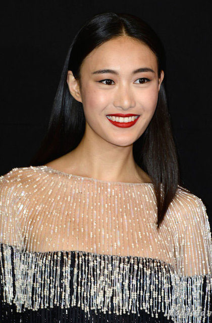 Shu Pei Qin attends the Giorgio Armani Prive show as part of Paris Fashion Week Haute Couture Fall / Winter 2013-2014.