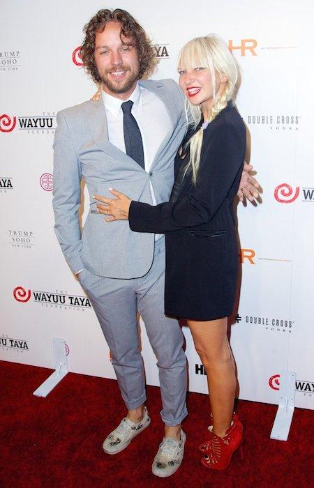 Sia Furler and Erik Anders Lang at Wayuu Taya Gala 2014.