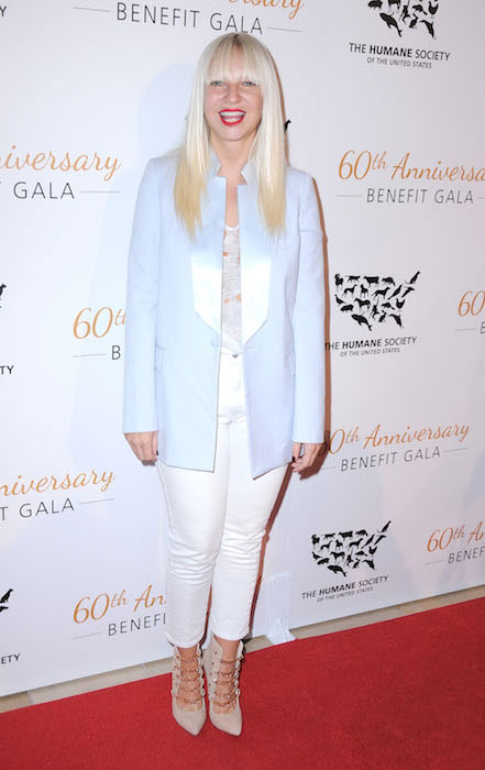 Sia attends The Humane Society Of The United States 60th Anniversary Benefit Gala held at The Beverly Hilton Hotel on March 29, 2014.