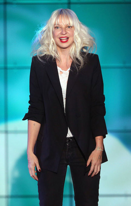 Sia performs onstage at 'TrevorLIVE LA' honoring Jane Lynch and Toyota for the Trevor Project at Hollywood Palladium on December 8, 2013.