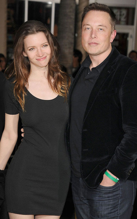 Talulah Riley and Elon Musk.