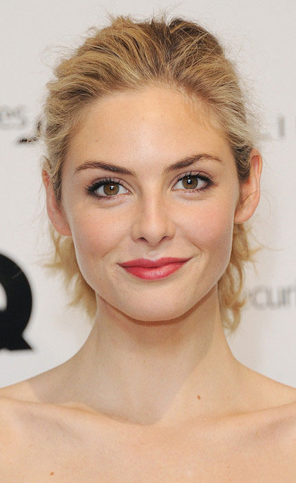 Tamsin Egerton arrives for the GQ 25th Anniversary Exhibition at Phillips De Pury on November 12, 2013 in London, England.