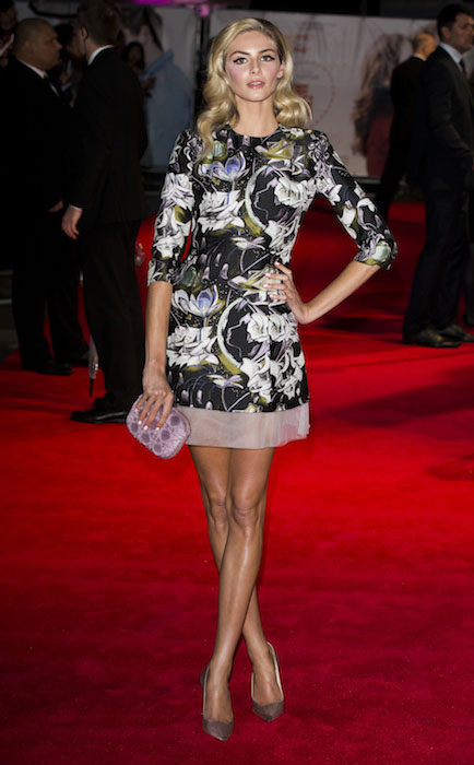 Tamsin Egerton attends the World Premiere of 'Love, Rosie' at Odeon West End on October 6, 2014 in London, England.