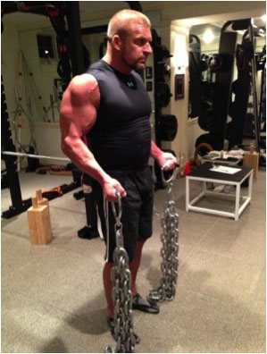 Triple H with chain