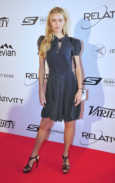 Valentina Zelyaeva at 10 Years of Relativity Films Photocall in Cannes in May 2014.