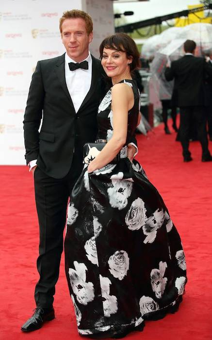 Damian Lewis with wife Helen McCrory in White House toilets.