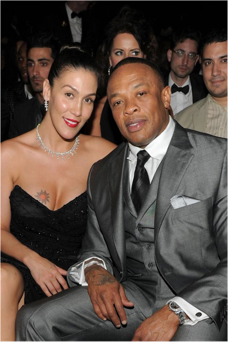 Dr. Dre and Nicole Young.