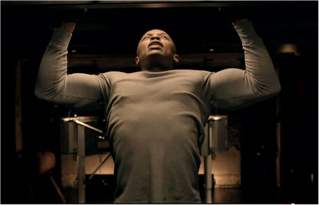 Dr. Dre doing pull-ups