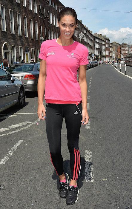 Glenda Gilson at the Flora Women's Mini Marathon 2013.