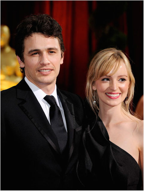James Franco and Ahna O'Reilly on the 81st Annual Academy Awards.