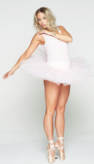 Kimberly Wyatt as ballerina.
