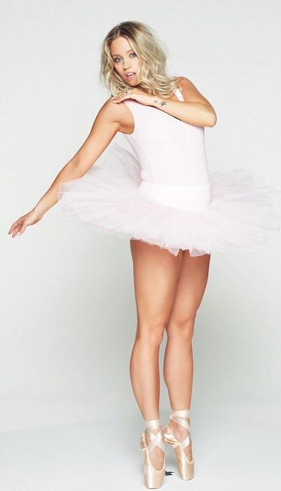 Kimberly Wyatt as ballerina.