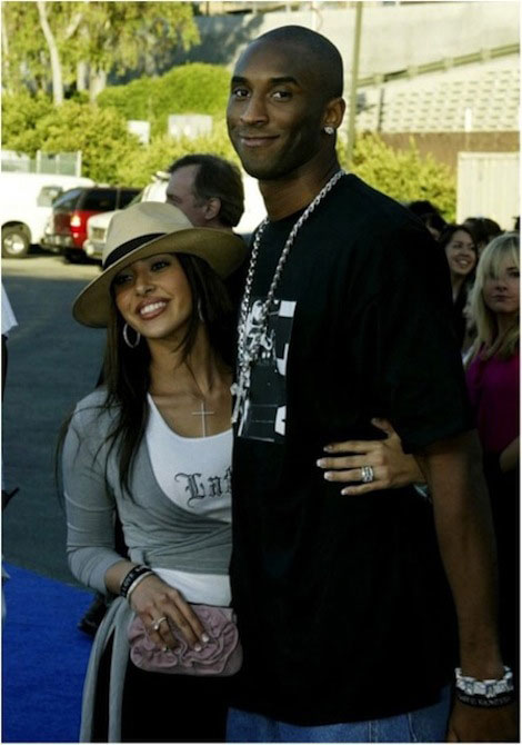 Kobe Bryant and Vanessa Laine.