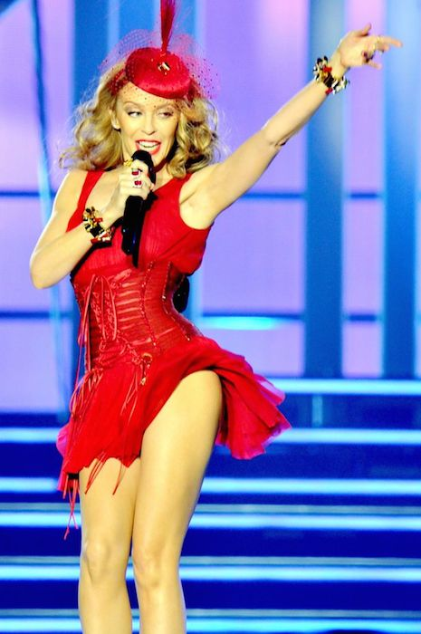Kylie Minogue performs at the Echo Arena in Liverpool in September 2014.