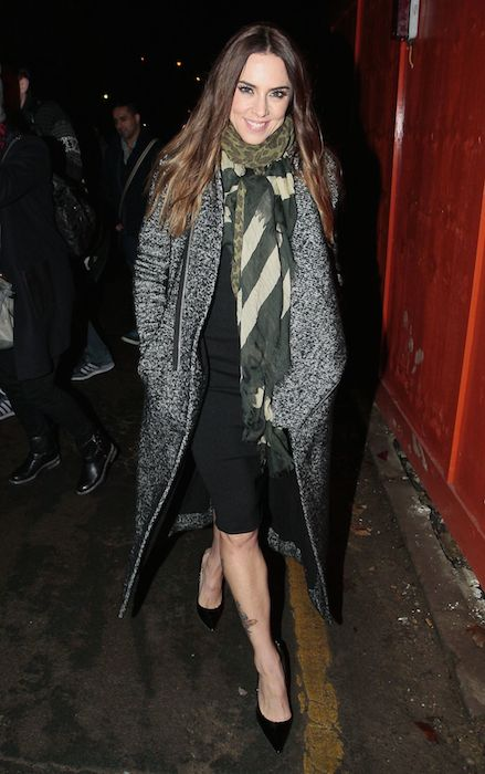 Melanie Chisholm Street Style - Leaving the Union Chapel in London in December 2013.